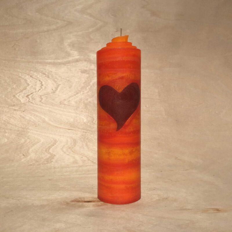 handgemachte Herz Kerze