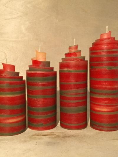 rot grüne Adventskerzen