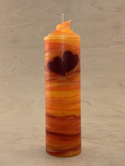 doppel Herz Kerze